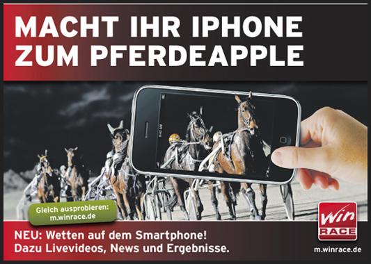 Plakat und Anzeige für Win Race