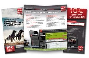 Direktmarketing: Promotionflyer für Win Race aus Hamburg