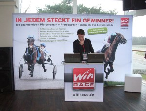 Promotionwand von Win Race