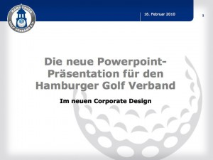 Powerpoint-Design-Master für den Hamburger Golf Verband