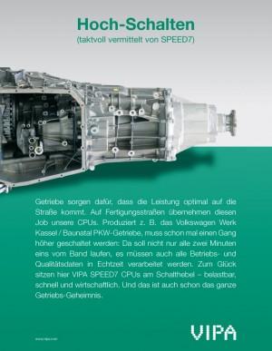 VIPA-Fachanzeige Getriebeproduktion