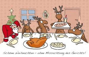 Weihnachtsmann-Juristen-Cartoon – so erfolgreich, dass es jedes Jahr einen neuen gibt