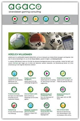 Responsives Webdesign für AGACO aus Hamburg