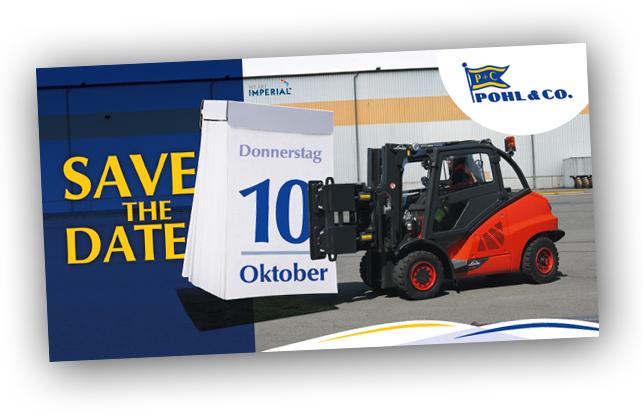 B2B Marketing in Form einer Postkarte für eine Spedition aus Hamburg