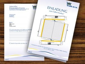 B2B Marketing: Einladung in Form von Direktmarketing für eine Spedition in Hamburg