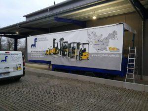 Rollendes Plakat-Design für Gabelstaplerprofi in Henstedt-Ulzburg