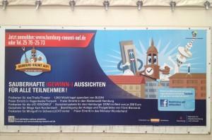 Fuhrparkplakat der Aktion Hamburg-räumt-auf