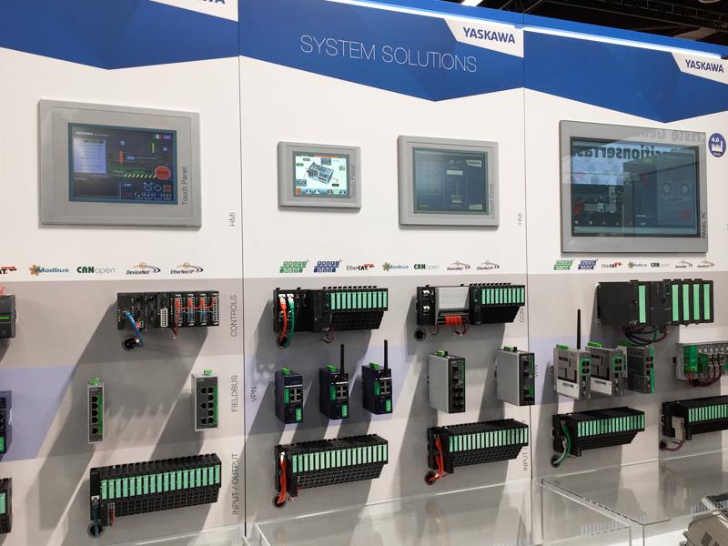 Messepanels von YASKAWA/VIPA CONTROLS im neuen Corporate Design