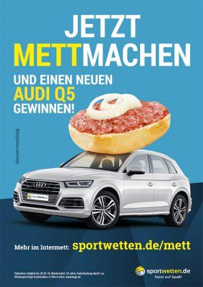 Plakat Design für eine Werbekampagne eines Sportwetten-Anbieters