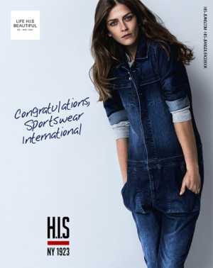 Printanzeige für H.I.S in Sportswear International