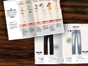 Printdesign für Fashion: Broschüre für H.I.S aus Hamburg