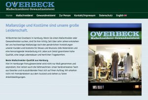 Texte für Webseiten inkl. Webdesign – hier ein Beispiel aus Hamburg