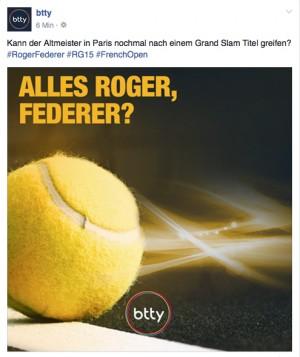 Teaser-Line zu den French Open