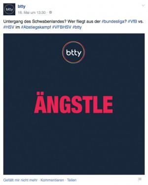 Social Media Texte für btty: Ängstle