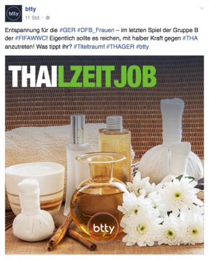 Teaser-Headline für den Social-Media-Einsatz von btty