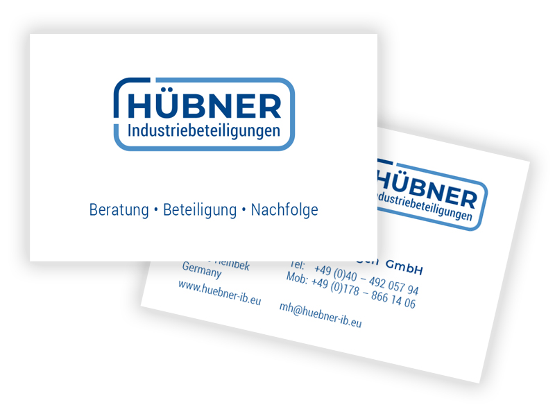 Visitenkarten für Hübner Industriebeteiligungen