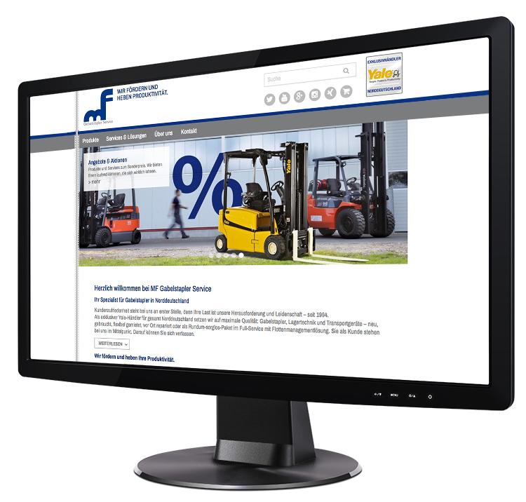Webdesign aus Hamburg für Gabelstapler-Profi in Henstedt-Ulzburg
