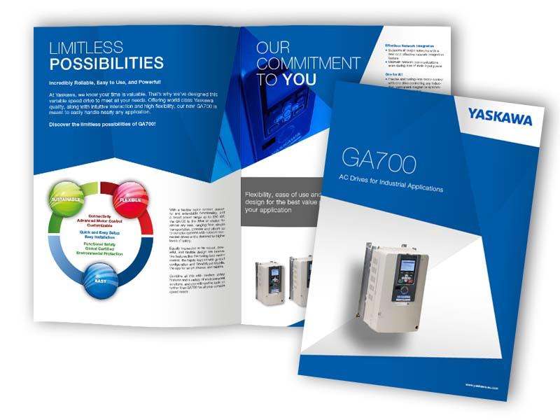 Yaskawa brochure design